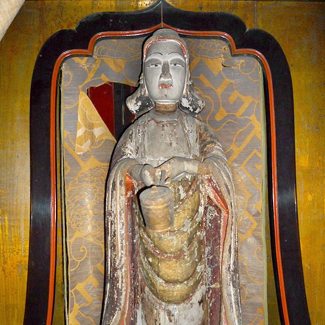 佐々木の太子堂と親鸞聖人作の聖徳太子像