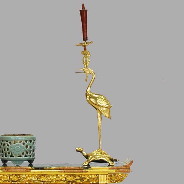 鶴亀の燭台